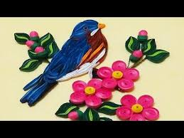 paper quilling birds tutorial quilling artwork how to make beautiful blue bird paper quilling
