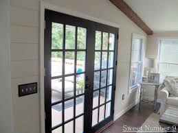 Roman Shade For French Door - wooden brown white interior french door waterfall roman shades for