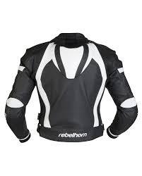 black motorbike jacket piston ii jacket black white rebelhorn eu
