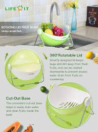 Fruit Bowl Amazon Com Lifewit Fruit Wash Bowl Holder Centerpiece Vegetable
