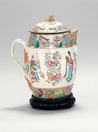 mandarin porcelain export mandarin porcelain cider pitcher circa 1820 domed