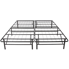 queen foldable metal bed frame black u2013 best choice products