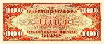 united states 100 000 dollar banknote currency wiki fandom