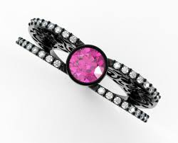 black gold sapphire engagement rings pink sapphire shaped engagement ring in black gold vidar