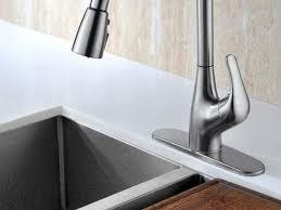 Delta Brushed Nickel Kitchen Faucet by Sink U0026 Faucet Delta Trinsic Kitchen Faucet With Inspiring Delta