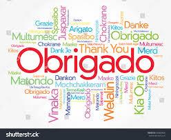 obrigado thank you portuguese word cloud stock vector 635806466