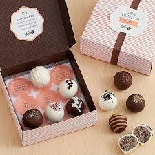 delivered gifts assorted cake truffles