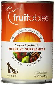 amazon com fruitables pumpkin dog digestive supplement with