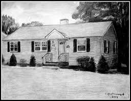 a pencil drawing of a house in lowell ma drawn by stev u2026 flickr