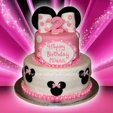 minnie mouse birthday cake 2 tier fondant disney minnie mouse birthday cake cakecentral