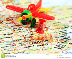London On Map Red Push Pin On Map Of England Stock Photo Image 47254749