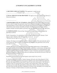 Agreement Letter Template Between Two Parties Attorney Engagement Letter For Law Firm Client Engagement