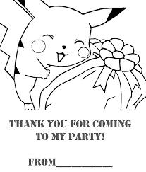 pokemon coloring pages birthday extravaganza