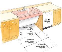 ada kitchen sink base cabinet kitchen design