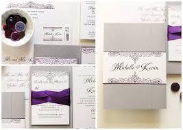 silver wedding invitations purple and silver wedding invitations gourmet invitations