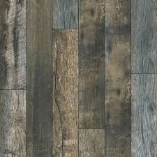 Handscraped Laminate Flooring Home Depot Bennington Lake Anderson Oak 12 Mm Thick X 4 96 In Wide X 50 79