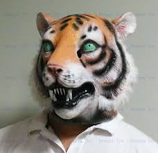 White Tiger Halloween Costume 2014 Style White Tiger Mask Latex Fancy Dress Costume Animal
