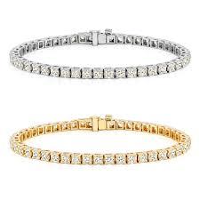 bracelet diamond yellow images Auriya 14k gold 1 1 2ct to 12ct tdw diamond tennis bracelet h i jpg