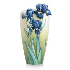 collection porcelain van gogh iris vase