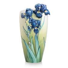 Vase With Irises Collection Porcelain Van Gogh Iris Vase