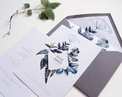 Wedding Invitation Companies Botanical Herbal Green Wedding Invitation Stationery Minimal