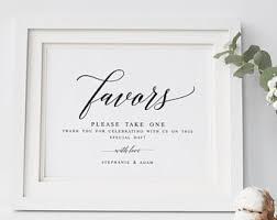 wedding favors 1 wedding favor sign etsy