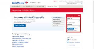 Bank Of America Change Card Design Bank Of America Credit Card Login India Infocard Co