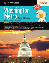 Washington Dc Subway Map Washington Dc Metro Street Atlas Kappa Map Group 9780762584871