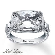 white topaz engagement ring neil designs ring white topaz diamonds sterling silver