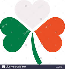 Color Of Irish Flag Three Color Clover In Irish Flag Colors Stock Photo Royalty Free