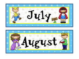 fairy tale theme calendar months newsletter templates signs and