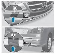 mercedes towing installing removing the towing eye towing and tow starting