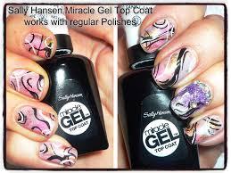 sally hansen miracle gel top coat used with regular nail polish