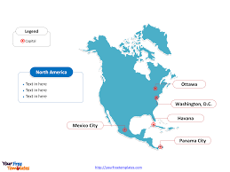 Central And South America Blank Map by Free North America Editable Map Free Powerpoint Templates