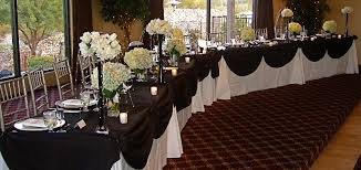 black and white wedding black white table my tucson wedding
