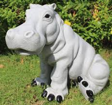 granite hippo garden sculpture ornament gardensite co uk