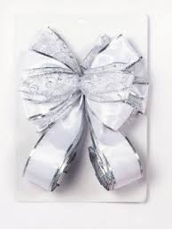 White Bows For Tree Ribbons Bows