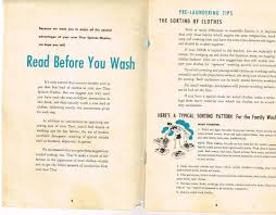 1951 vintage thor spinning washer washing machine owners manual