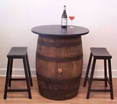 whiskey barrel bar table amazon com white oak whiskey barrel table pub bistro bar c 2 24