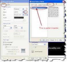 tutorial autocad hatch load custom hatch pattern in autocad