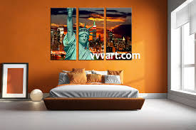 3 piece brown canvas city large pictures bedroom decor 3 piece wall art city multi panel art city wall art