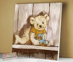 tableau pour chambre d enfant tableau ourson voiture pour chambre de bébé vente de tableaux