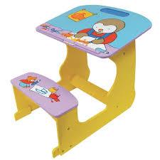 bureau en bois enfant bureau pupitre en bois enfant tchoupi achat vente bureau bébé