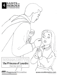 download st bernadette coloring page ziho coloring