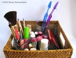 Storage Containers For Bathrooms by Boxes And Baskets Makeup Basket Organizer Makeup Basket Storage