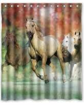 Horse Shower Curtains Sale Deal Alert Running Horse Shower Curtain