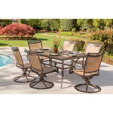 fontana 7 piece dining set with six stationary dining chairs a