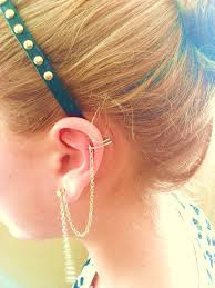 how to make ear cuffs diy chained ear cuff shop no further than your closet
