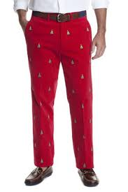 Mens Embroidered Pants Best Preppy Party Pants  New Christmas