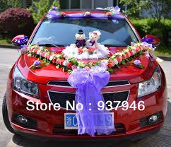 online shop free shipping artificial wedding car decoration